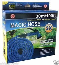 Magic Hose 100 Feet Expanding Garden Hose With Multi-Pattern Spray Nozzle