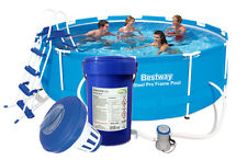 Bestway 56418 366 x 100 cm Steel Pro Frame Pool mit Leiter, MULTITABS