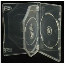 100 x 3 Way Clear DVD 14mm Spine Holds 3 Discs Empty New Replacement Case HQ AAA