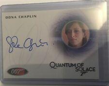 Oona Chaplin JAMES BOND 007 2014 Archives Autograph Card Auto A246