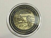 NASA Apollo 16 45th Anniversary Medallion Token Limited Edition Contains Flown