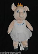 Peluche Doudou Cochon IKEA Kappar Circus Pig Danseuse Tutu Couronne 35 Cm NEUF