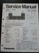 Original Service Manual Panasonic Tuner Compact Disc Changer SL-CH80