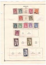 TransJordan, trans Jordan Stamps. 14 Scott Pages from 1942-1970, Big Collecti #2