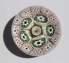 Vintage Venetian Murano Art Glass Paperweight Cane work Millefiori Flowers