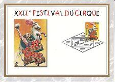 MONACO CEF PREMIER JOUR 1997 TIMBRE N° 2139 FESTIVAL DU CIRQUE