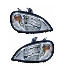 1996-2015 Freightliner Columbia OE Replacement Headlamps SET - CHROME