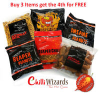 Chilli Snacks - Carolina Reaper - Ghost Pepper - Buy 3 Get the 4th FREE. Gifts