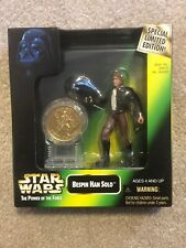 NEW 1997 Star Wars POTF Action Figure Special Edition with Coin Bespin Han Solo