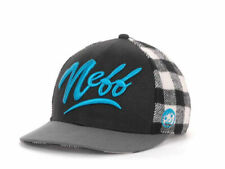 Neff Headwear Brawny White & Black Wool Blend Plaid Snapback Cap Hat