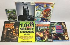 Nintendo GUIDE LOT of 7 NES Top Secret, Donkey Kong 64, Super Mario Sunshine +++