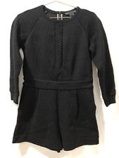 MARC BY MARC JACOBS BLACK TEXTURED POCKETS ROMPER JUMPSUIT ONE-PIECE MEDIUM