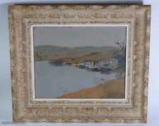 HENRI DUFAUX, 1879-1980 (SWITZERLAND)-OIL PAINTING-LANDSCAPE-SIGNED & DATED-1923