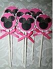 MINNIE MOUSE CUPCAKE  TOPPERS~~#12~~Birthday Party Decorations~Disney~ die cuts