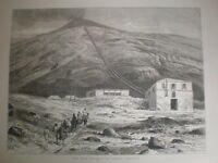 The New Railway of Mount Vesuvius Italy 1880 old print