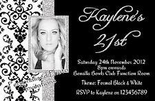 Personalised 18th 21st 30th 40th 50th Adult Birthday Invitations Photo invites