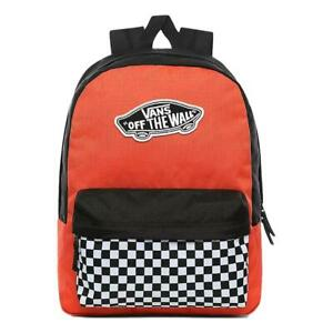 Vans NEW Women's Realm Backpack - Paprika Checkerboard BNWT