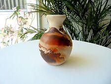 "Moose Lake Minnesota Nemadji Hand Made Bud Vase 4"" Tall"