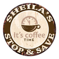 CWSS-0124 SHEILA'S STOP&SAVE Coffee Sign Birthday Mother's Day Gift Ideas