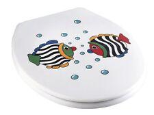 WENKO 3380024500 WC-Sitz Fisch, Kunststoff - Duroplast Toilettendeckel Neu