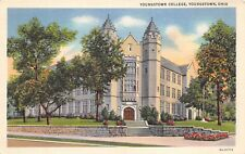 Youngstown Ohio 1940s Postcard Youngstown College