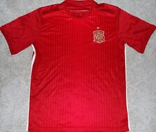 SPAIN MEN'S SOCCER FUTBOL JERSEY CLEARANCE WORLD CUP SIZE LARGE, XL NEW! READ AD
