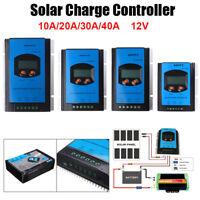 10/20/30/40A 12V MPPT Solar Panel Charge Controller Battery Regulator Max 100V