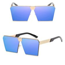 Oversized Flat Top Metal Square Retro Men's Fashion Sunglasses New