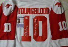 Rob Lowe Signed Youngblood Jersey w/ JSA COA #V80395 Hamilton Mustangs Dean