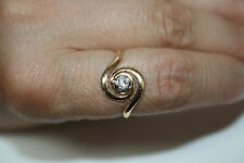 ancienne bague tourbillon - diamant - or 18 carats