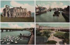 WEYMOUTH - Sandsfoot Castle - Alexandra Gardens - Harbour x2 - Four Postcards