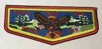 OA lodge 129 Egwa Tawa Dee Flap Mint WWW red TT8