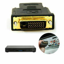 HDMI FEMALE TO DVI-D (24+1) MALE GOLD SOCKET ADAPTOR ADAPTER CONVERTER JOINER .M