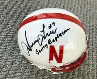 NEBRASKA FOOTBALL IRVING FRYAR #27 AUTOGRAPHED MINI HELMET THE SCORING EXPLOSION