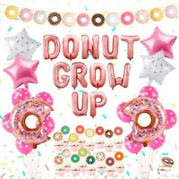 35pcs Donut Foil Balloons Set Banner Baby Shower Kids Gifts Birthday Party Decor