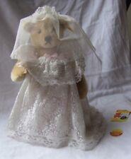 """Steiff Bridal Bear Mohair 12"""""""