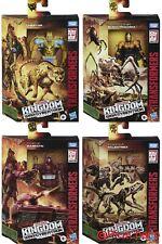 Transformers War for Cybertron Kingdom Deluxe Cheetor Warpath Blackarachnia Trex