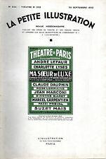 LA PETITE ILLUSTRATION N° 644- 1933- MA SOEUR DE LUXE, par André BIRABEAU