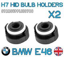 2x H7 BMW E46 HID HEADLIGHT HOLDERS BMW CONVERSION KIT BULB HOLDERS E46
