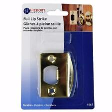 Hickory First Watch #1067 Full Lip Steel Door Strike, Polished Brass Latch Plate
