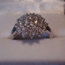 1.38ct Certified SI Diamond 18k White Gold Engagement Ring
