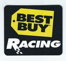 Sponsor Best Buy NASCAR Auto Racing Black Square Sticker