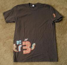 MTV 3 brown t shirt short sleeve size M