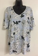 New Ex Evans Plus Size Striped Floral Print Summer Day Casual Day Top Size 16-32