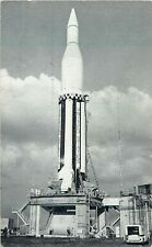 Exhibit Supply Arcade Card 1960 Saturn C-1 Rocket Cape Canaveral, NASA Card 23