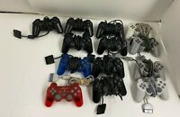 13 Sony PlayStation 2 Wired Controllers For Parts or Repair PS2 Broken Untested
