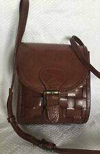 ANNAPELLE  Padded Tan Buffalo Leather Cross Body/Shoulder Bag / Handbag