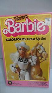 #657  WESTERN BARBIE COLORFORMS DRESS UP SET  1993