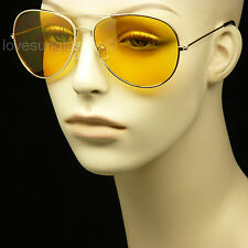 HD sunglasses night driving vision safety shoot yellow pilot glasses frame