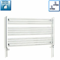600 mm Wide 1100 mm High Flat White Heated Towel Rail Radiator Bathroom Kitchen